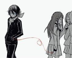 Noragami yato x hiyori Noragami Anime, Yato X Hiyori, Manga Anime, Anime Amor, Fanarts Anime, Film Animation Japonais, Red String Of Fate, Yatori, Film D'animation