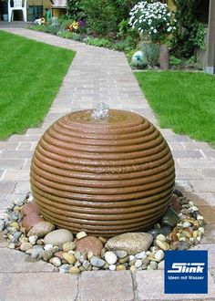 Gartenbrunnen Formkugel 35 cm