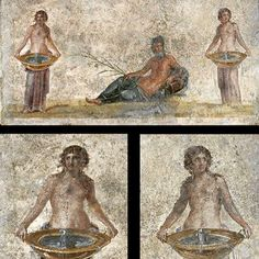 Fragment of a wall painting. House of the Vestals - Pompeii Frammento di un…