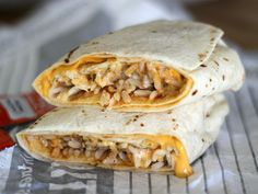 The Quesarito: Taco Bell Takes on Chipotle's Secret Menu Taco Bells, Chipotle Secret Menu, Popcorn Shrimp, Fast Food Reviews, Taco Time, Tacos, Meal Prep, Meals
