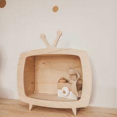 Kids tv Mini Tv, Plywood, Kids Room, Bb, Frame, Etsy, Vintage, Home Decor, Author