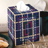 Appealing Plaid Tissue Box Cover Plastic Canvas Pattern ePattern