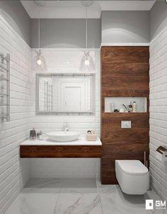 Baños de estilo escandinavo de gm-interior escandinavo in 2020 Bathroom Design Small, Bathroom Layout, Bathroom Interior Design, Contemporary Bathrooms, Modern Bathroom, Boho Bathroom, Toilette Design, Small Toilet, Industrial Bathroom