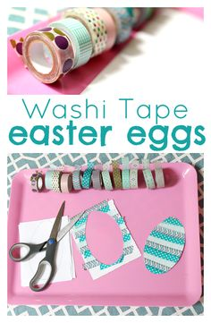 Washi tape crafts like this easter egg banner are fun and quick to make!