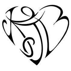 K Heart Tattoo legame amore tattoo tattootribes com more tattoo ideas tattoos ...