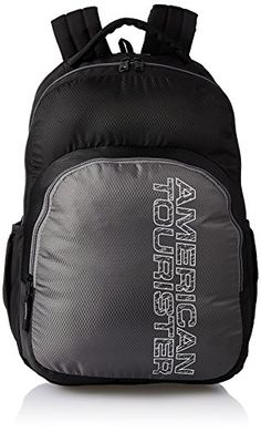 Buy #5: American Tourister 27 Ltrs  Black Casual Backpack (AMT STRATOS BP-01 BLACK/GREY)