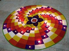 latest Simple Rangoli Designs Images Photos for Diwali 2018 ~ Happy Diwali Images Wishes 2018 Simple Rangoli Designs Images, Rangoli Designs Latest, Rangoli Designs Flower, Latest Rangoli, Rangoli Patterns, Colorful Rangoli Designs, Rangoli Designs Diwali, Flower Rangoli, Beautiful Rangoli Designs