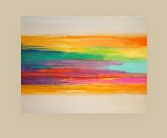 Art Acrylic Abstract Painting Original Canvas Art Titled: Rainbow of Colors…