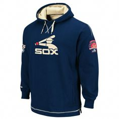 Majestic Chicago White Sox Navy Blue The Liberation Cooperstown Pullover Hoody Sweatshirt