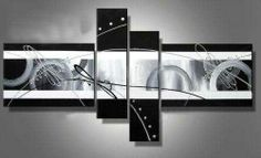 Stretched abstract oil painting canvas black white grey artwork modern decoration handmade home office hotel wall art decor free ship gift abstract oil Oil Painting Abstract, Abstract Wall Art, Hand Painting Art, Abstract Lines, Painting Canvas, Oil Paintings, Large Painting, Modern Paintings, Painting Clouds
