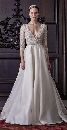 Monique Lhuillier wedding dress at Metal Flaque in Paris, France
