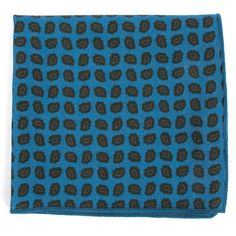 Printed Brink Paisley pocket square - Ocean Blue | Ties, Bow Ties, and Pocket Squares | The Tie Bar