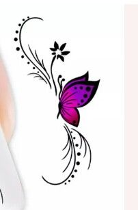 Love this for a tattoo design xx Mini Tattoos, Flower Tattoos, Body Art Tattoos, Small Tattoos, Rose And Butterfly Tattoo, Butterfly Drawing, Floral Tattoo Design, Tattoo Designs, Carving Designs