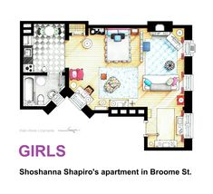 Floorplan Of Shoshanna Shapiro S Apartment From If You Are Interested In A Handmade Drawing