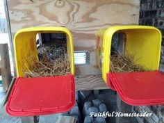 Cheap & easy nesting boxes for chickens...no complicated roofing
