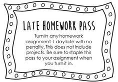 Late Homework Pass                                                                                                                                                      More