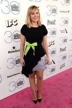 Pin for Later: Celebrity Duos Bring Electric Energy to the Spirit Awards Pink Carpet Kristen Bell