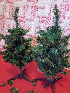 Dollar Tree Christmas tree hack: creating a farmhouse buffalo check Christmas