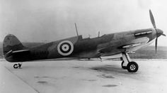 "First flown on 25 March 1939, Spitfire Mk I YT-O is seen before its arrival with No 65 Squadron RAF on 4 April 1940 at RAF Hornchurch. Fitted with a Rolls-Royce Merlin III engine, driving a 2 speed, 3 bladed de Havilland propeller, the aircraft was damaged by an Me 109 on 26 May when P/O Kenneth G ""Ken"" Hart bellied on the beach at Dunkirk where it was set on fire by the 19-year-old pilot, who escaped uninjured."