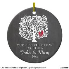 Shop Our first Christmas together ornament, love birds Ceramic Ornament created by DesignbyRedline. Personalize it with photos & text or purchase as is! Christmas Gifts 2016, Christmas Love, Christmas Themes, Holiday Gifts, Holiday Cards, Christmas Decorations, Christmas Photos, First Christmas Together Ornament, Bird Christmas Ornaments