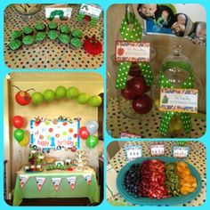 the very hungry caterpillar  1st birthday party