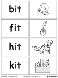 **FREE** Word Sort Game: IT Words Worksheet. Topics: Phonics, Reading, and Word Families.