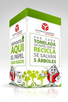 Caja de CERAMICA CARABOBO para campaña interna ecológica