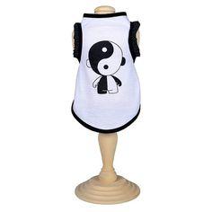 Camiseta para Cachorro Ying Yang Babado Joy Art - MeuAmigoPet.com.br #petshop #cachorro #cão #meuamigopet