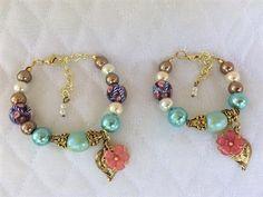 Mommy and me bracelet. Mother and daughter bracelet set.  Sisters bracelet. Big and littler sisters bracelet set. Crystal bracelet set. de Brisasboutique en Etsy