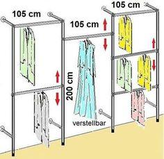 Luxury Details zu begehbarer Kleiderschrank KLEIDERSTANGE Kleiderst nder GARDEROBEZIMMER Art W