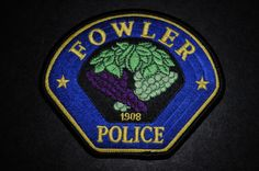Fowler Police Patch, Fresno County, California (Current 2005 Issue)