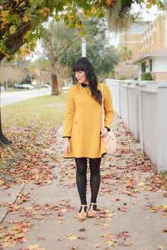 72f2e3611e994 Carla Thompson - Kling Mustard Dress