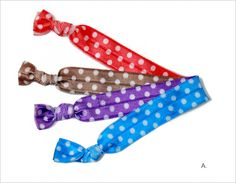 Patterned Knotted Hair Ties