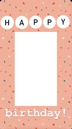 Creative Instagram Photo Ideas, Instagram Photo Editing, Instagram And Snapchat, Instagram Blog, Instagram Story Ideas, Happy Birthday Template, Happy Birthday Frame, Birthday Posts, Birthday Frames