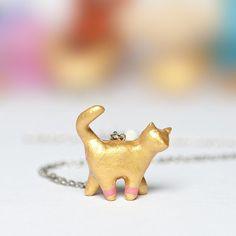Le Cat Chroma - Totem Necklace by le animalé / leanimale on Etsy
