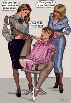 "feminization:    ""Can you feel your maleness going away?"""