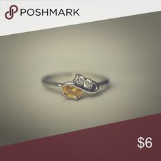 Yellow and white zirconia ring Yellow and white zirconia ring 💍 Jewelry Rings