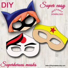 Superhero Girls masks Girls superheroes Instant by DPKprintables