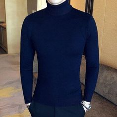 Loldeal 2018 Mens white Sweaters and Pullovers Men Turtle Neck Brand Sweater Male Outerwear Jumper Knitted Turtleneck Sweaters Warm Sweaters, Casual Sweaters, Pullover Sweaters, Men Sweater, Pullovers, Turtle Neck Men, Long Sleeve Turtleneck, Sweater Fashion, Jumpers