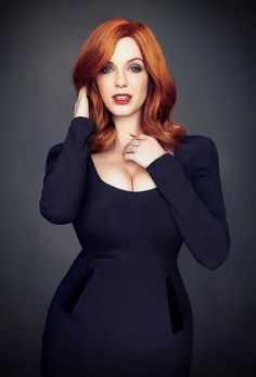 Christina Hendricks. holy hell. if anyone knows what shoot this is from let me know!