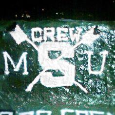 #TheRock #MichiganState #MSU #crew #team #gogreen #gowhite #spraypaint #Padgram