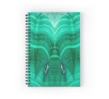 Malachite Spiral Notebook by lightningseeds® for crystalapertures.rocks.