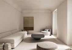 Madrid Architect Iker Ochotorena Finds Sublime Serenity in Minimalism Madrid Apartment, London Apartment, Architecture Design, Minimal Apartment, Perriand, Interiors Magazine, Piece A Vivre, Upholstered Sofa, Bespoke Design