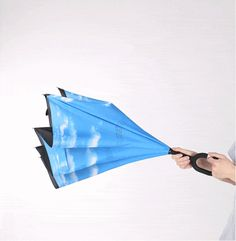 Inverted Nequis Umbrella Umbrella Reinvented! The most genius umbrella of all time opens inside out! Limited time promotion! Order Now and Save $30! Reverse design – getting in and out of your car wil
