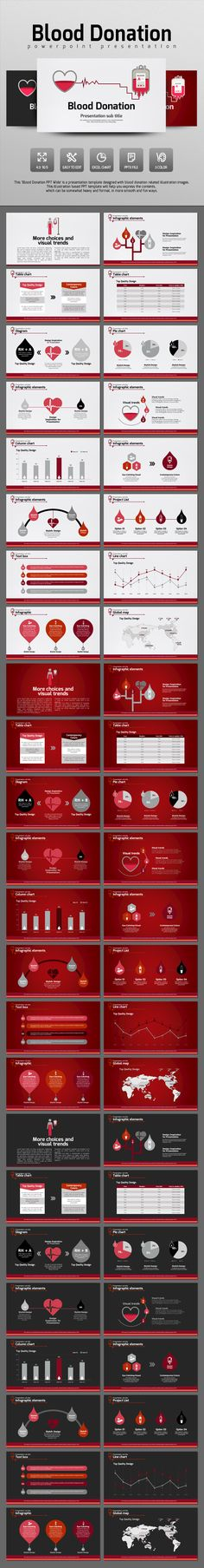 Blood Donation (PowerPoint Templates)