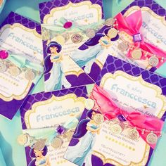 Aladdin and Jasmine birthday party favors! See more party planning ideas at CatchMyParty.com!