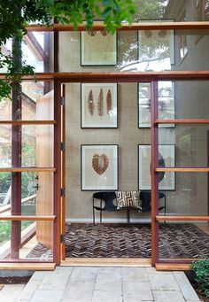 glass doors - build onto the outside deck!