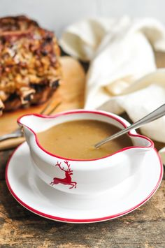 Jamie Oliver's Get Ahead Gravy #christmas #gravy #jamieoliver. add 1/4 cup wine before flour. make sure us boling water