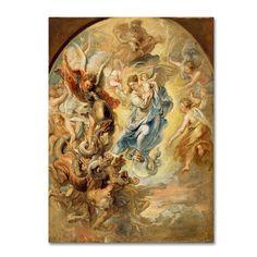 Peter Paul Rubens 'Virgin As The Woman Of Apocalypse' Canvas Art