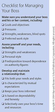 Managing Your Boss - Harvard Business Review
